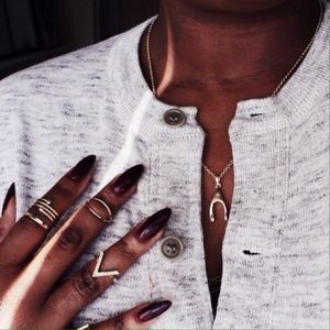 Jewelry | Wishbone gold necklace